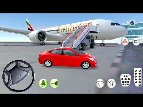 Hyundai Accent In Driving Class Simulator - Airport and Gas Station Location - Android Gameplay