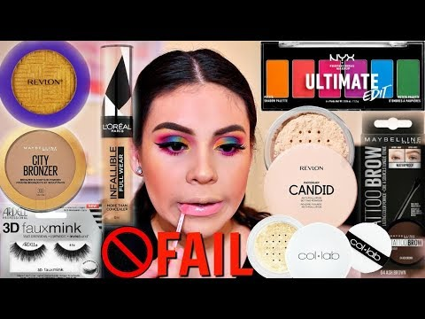 TESTING NEW DRUGSTORE MAKEUP 2019: FULL FACE OF FIRST IMPRESSIONS FAIL! | JuicyJas