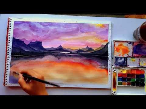 WATERCOLOR LANDSCAPE PAINTING for BEGINNERS