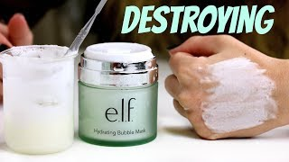 Playing with the E.L.F Hydrating Bubble Mask | THE MAKEUP BREAKUP