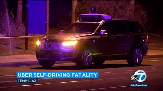 Uber suspends self-driving operations after car hits, kills pedestrian in Arizona I ABC7