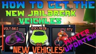 [ROBLOX JAILBREAK] HOW TO GET THE MCLAREN, ATV, THE VOLT! | WINTER UPDATE