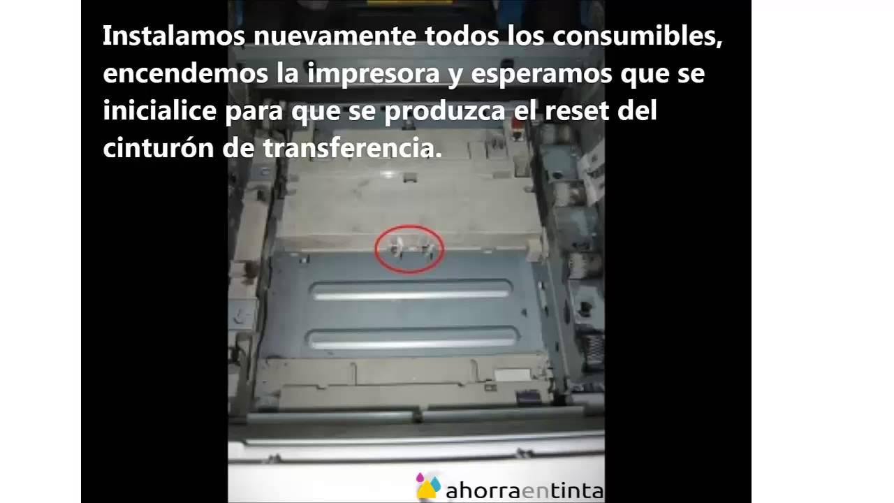 Reset cinturon de transferencia OKI C5600/5650/5700/5750/5800/5850/5900/5950
