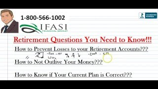 Retirement Questions ***MUST SEE*** Retirement Questions Explained