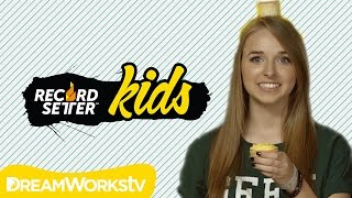 Jennxpenn Makes Cupcakes! Messy Food World Records! | RecordSetter Kids Ep. 9