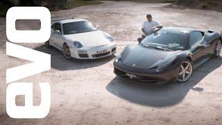 Ferrari 458 Italia v Porsche 911 GT3 RS - evo Magazine