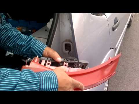 How to remove Citroen c3 rear light bulb