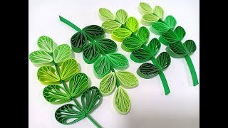 Husking leaves design with quilling comb