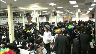 Purim 5773: Megillah Reading in 770 - Crown Heights, Brooklyn