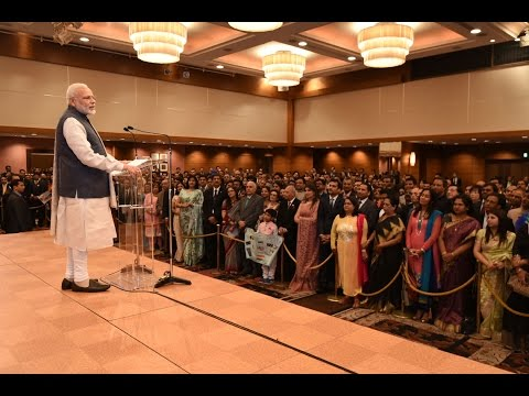 PM Narendra Modi interacts with Indian Community in Japan
