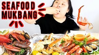 MUKBANG SEAFOOD BOIL! 먹방 (EATING SHOW!) LOBSTER + SHRIMP + KING CRAB + CLAMS + MUSSELS