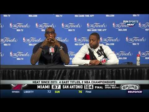 June 15, 2014 - Sunsports - Wade & LeBron Post Game Press Conference 2014 NBA Finals Game 05