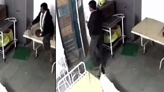 Caught on Cam : Rape accused escapes from hospital