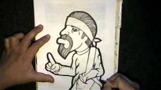 step by step drawing a cholo character - song name - (ANGEL BABY) - Instrumental - (OLDIES)