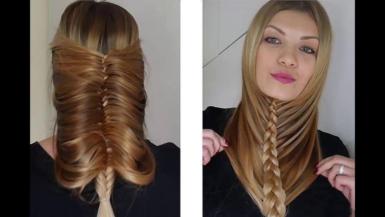 Супер легкая техника плетения для средних и длинных волос ...