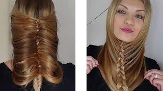видео Легкие прически на длинные волосы своими руками