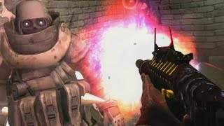 "JUGGERNAUT ZOMBIE BOSS... WITH MINIGUN! ""Call of Duty Zombies"" INDUSTRIAL ESTATE Custom Map Gameplay"
