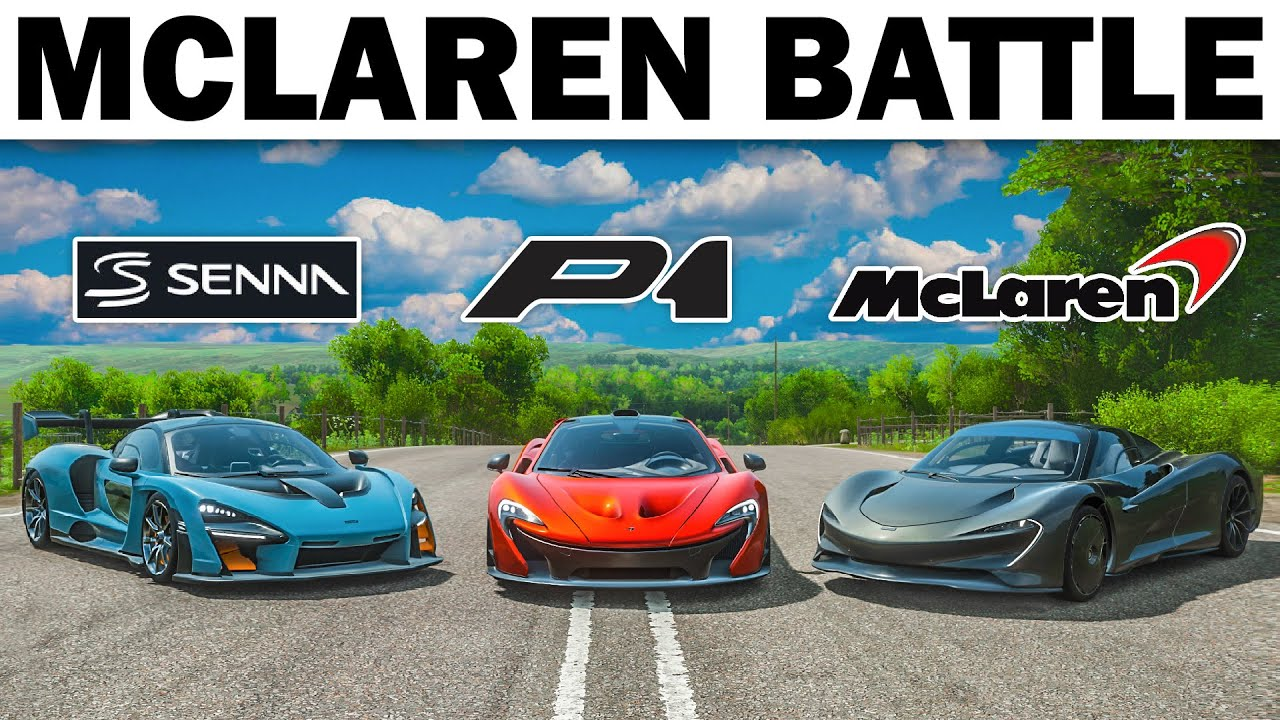 Forza Horizon 4 | McLaren Senna vs McLaren Speedtail vs McLaren P1!!!