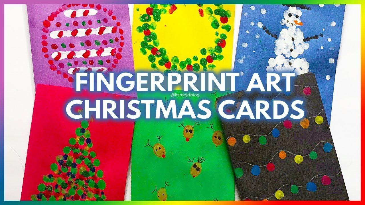 Fun Fingerprint Christmas Card Ideas That Kids Can Make