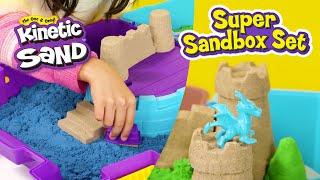 Kinetic Sand Super Sandbox Set How To