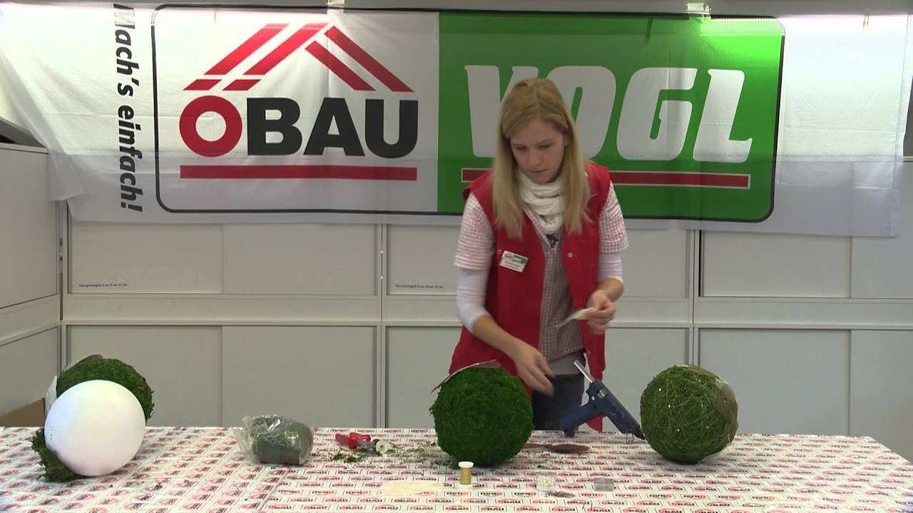 ÖBAU Vogl Basteltipp - Mooskugel - YouTube