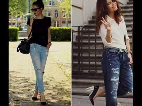 Yırtık Kot Pantolon Modelleri