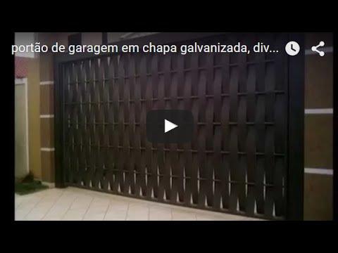 Port 227 O De Garagem Em Chapa Galvanizada Diversos Modelos