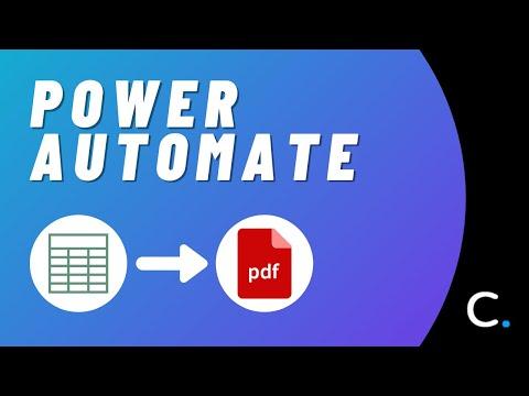 How to Convert an Excel Worksheet to PDF in Power Automate