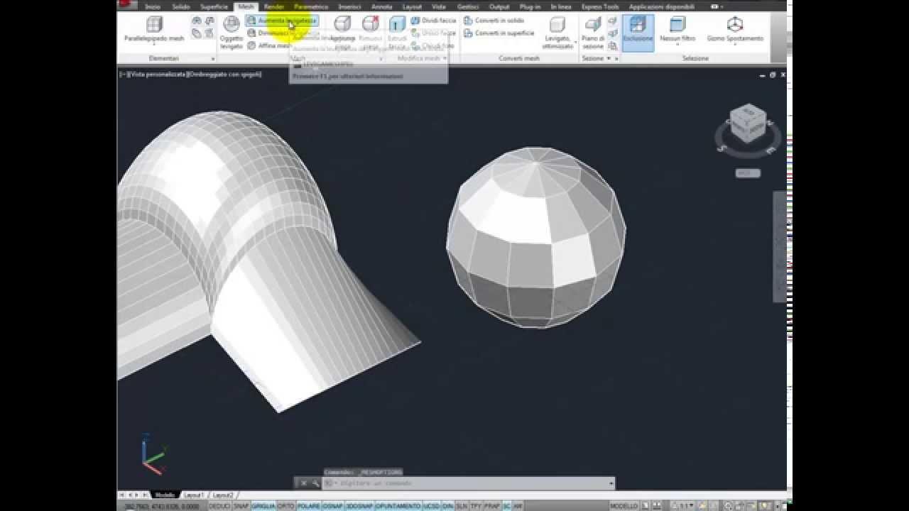 Mesh e superficie di coons modellazione free form con for Modellazione 3d gratis
