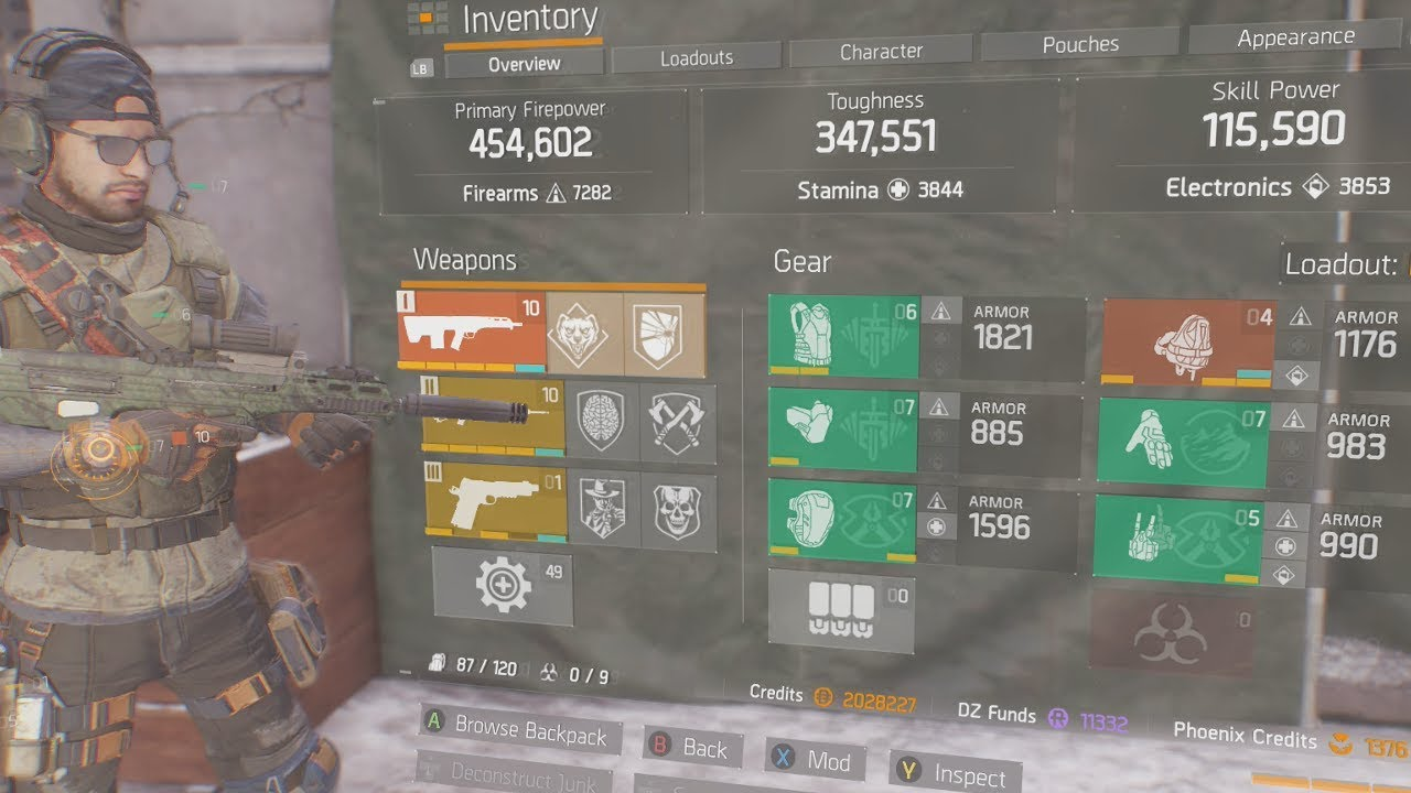 The Division Top 3 Best Gear Sets In Patch 1 7 Best Damage Toughness Skill Power Builds Youtube