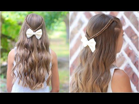 Infinity Braid Tieback   Back-to-School Hairstyles
