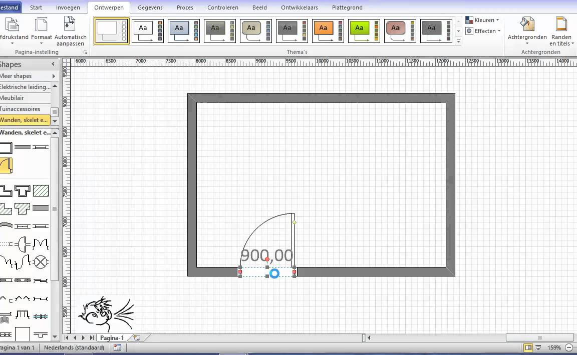Visio basis 3 huis youtube for App plattegrond tekenen