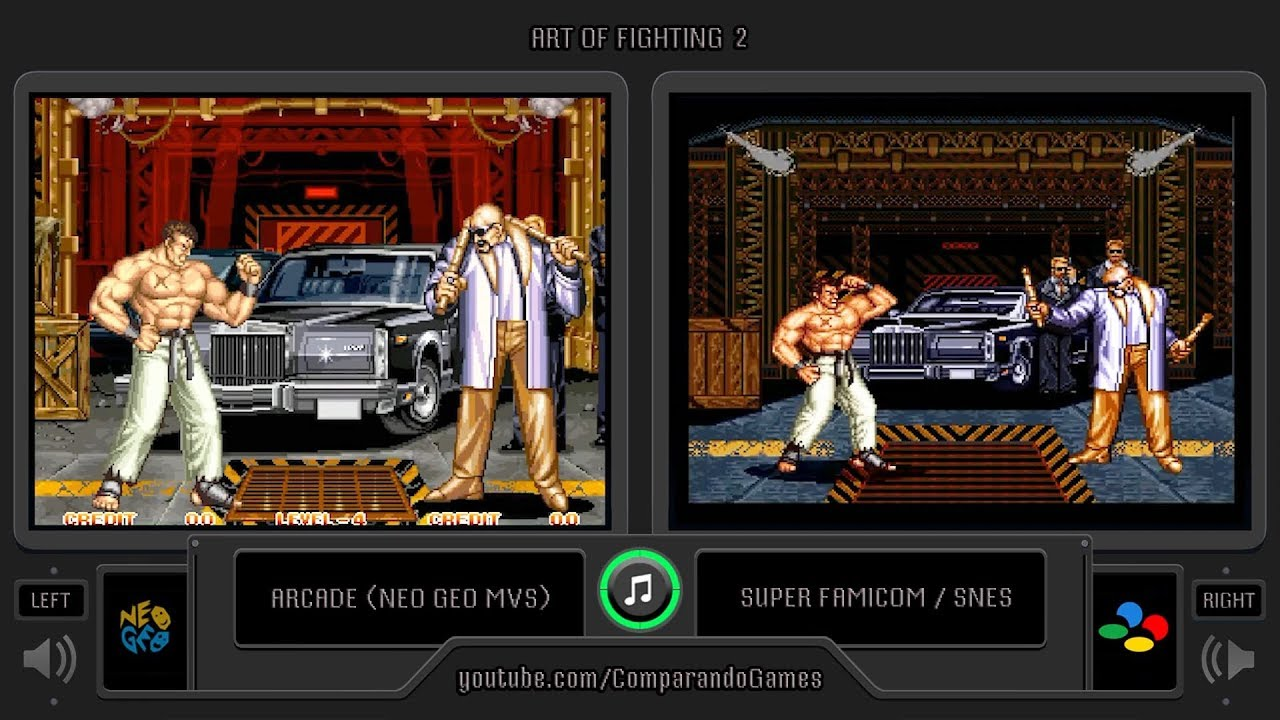 Art Of Fighting 2 Arcade Vs Snes Side By Side Comparison 2