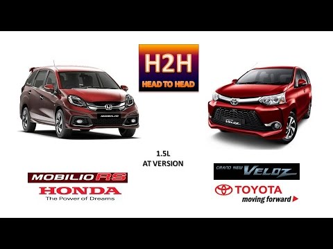 grand new veloz 1.5 vs mobilio rs harga all kijang innova 2018 h2h 23 toyota honda 1 5 liter engine version