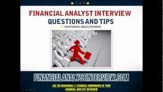 Financial Analyst Interview Questions and Tips