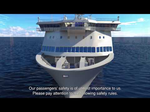Baleària ferry onboard safety video