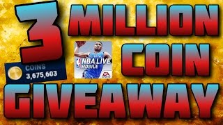 3 MILLION COIN GIVEAWAY!! NBA Live Mobile GIVEAWAY (Ends September 23)