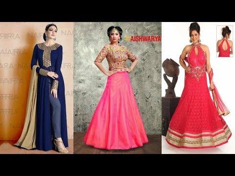 Long Anarkali Gown Dress Designs  (Part 37)