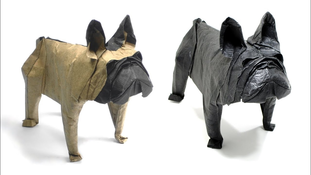 Origami French Bulldog Mariano Zavala B 折り紙 フレンチブルドッグ Perro Francés Dog Pet