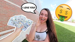 Giving My Girlfriend $100 Every Time She Says I LOVE YOU!