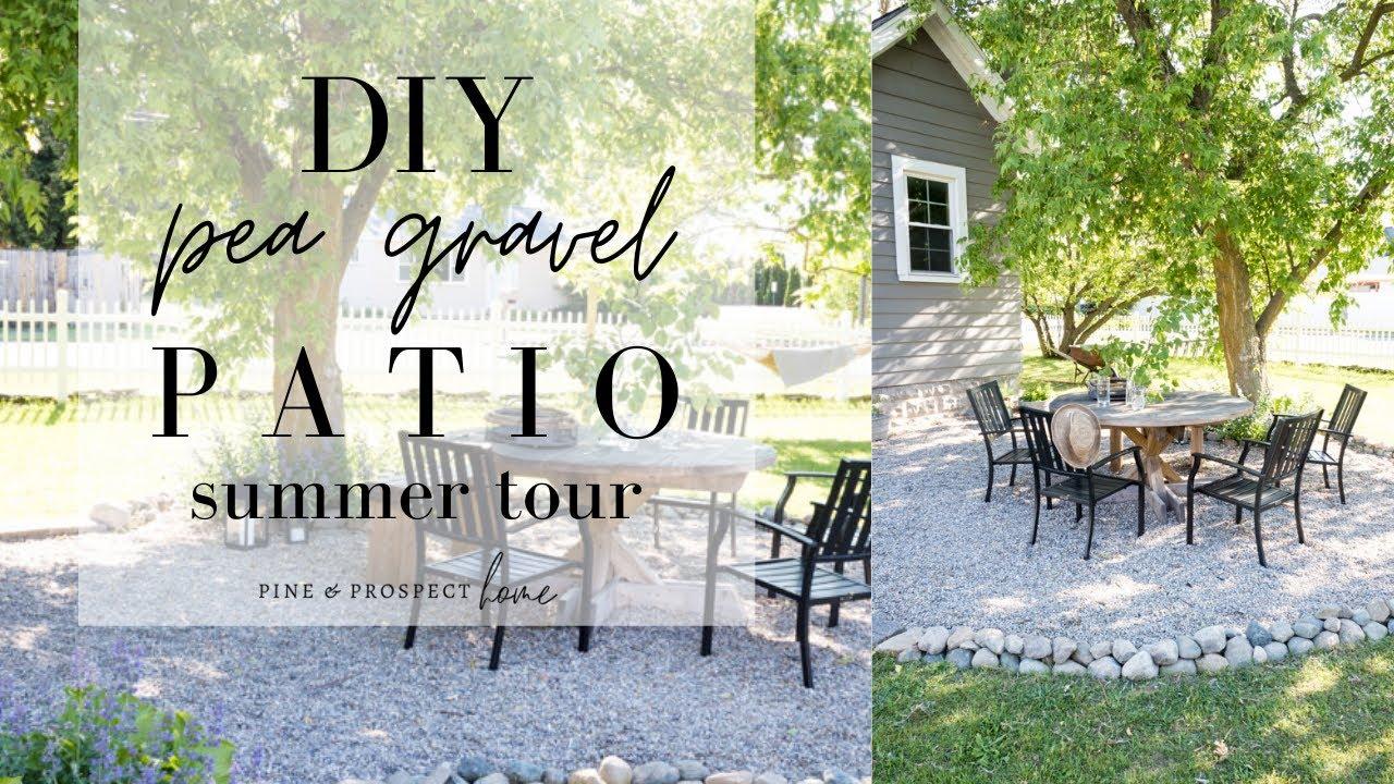 diy pea gravel patio tour