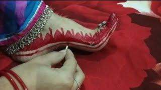 Alta designs for feet/Diwali/ Karwa Chauth/ Navaratri