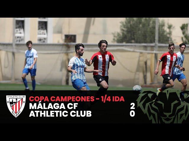 ⚽ Resumen I Copa Campeones DH Juvenil - 1/4 ida I Málaga CF 2-0 Athletic Club I Laburpena