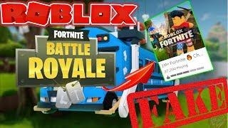 FAKE Roblox Fortnite Battle Royale?