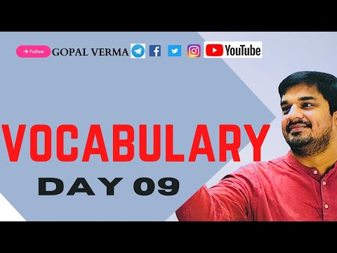 VOCABULARY DAY 09 {GOPAL VERMA SIR} from YouTube · Duration:  18 minutes 15 seconds