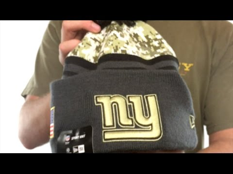 0ba539039b7 NY Giants  2016 SALUTE-TO-SERVICE  Knit Beanie Hat by New Era - YouTube