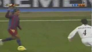 Real Madrid 0 x 3 Barcelona - Ronaldinho's first goal
