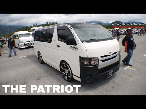Toyota Hiace Modified With Full Audio Sytem   Mega Gathering 2K16 UPSI Tanjung Malim   Closeup Video