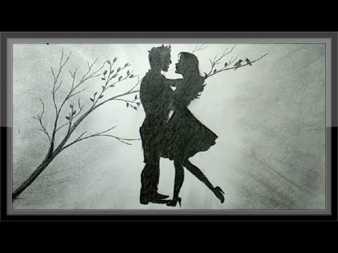pencil-drawing-romantic-scenery-the-love-draw-step-by-step