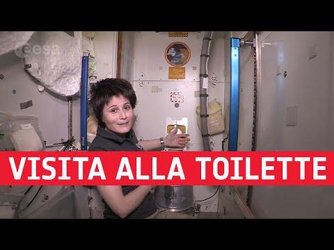 Visita alla toilette della Stazione Spaziale Internazionale